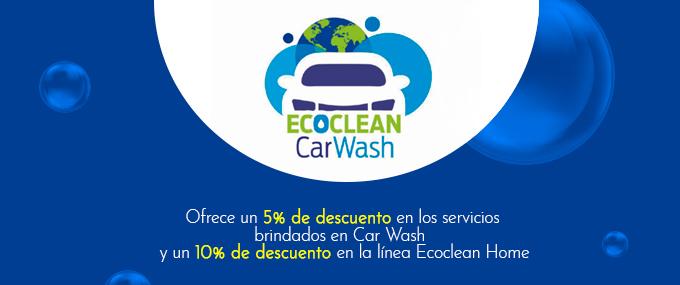 eco clean car wash 5% de descuento en sus servicios