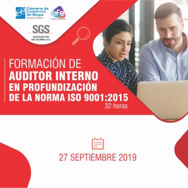 Formación de Auditor interno en Profundización de la norma ISO 9001:2015