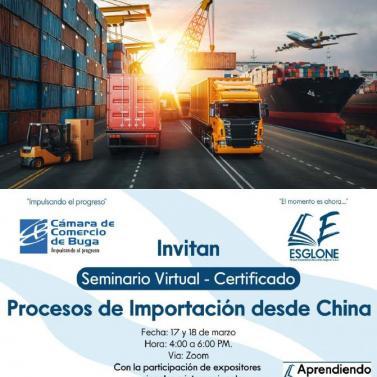 """Seminario Virtual """"Procesos de Importación desde China"""""""